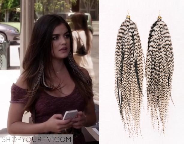 Pretty Little Liars: Season 5 Episode 16 Ariau0026#39;s Feather Earrings :
