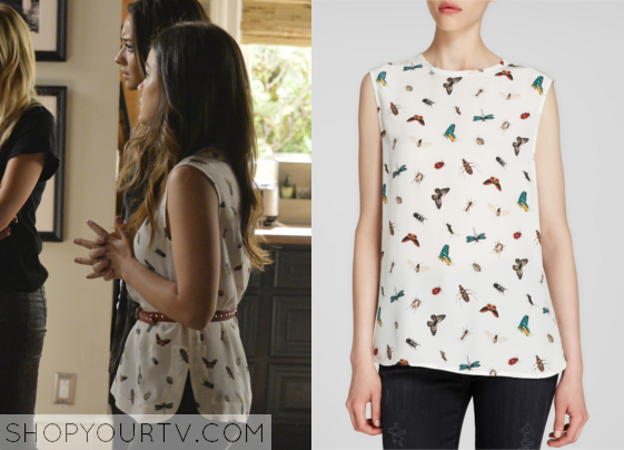 26f134f94e64c1 It is the Equipment Kyle Silk Insect-Print Top. Buy it HERE for $89.11, or  HERE for 133, or HERE for $106.80