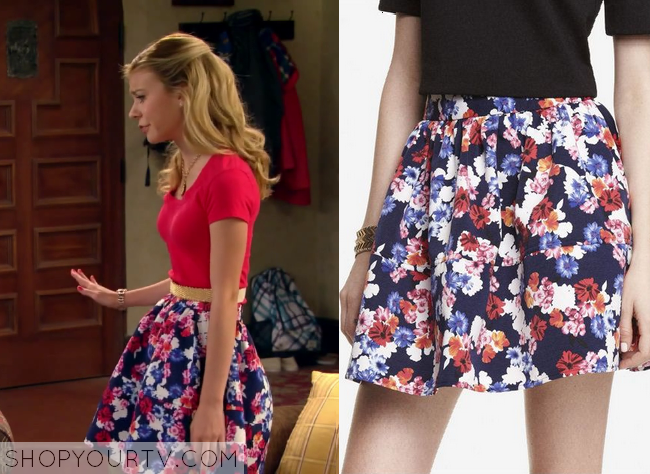 avery floral skirt