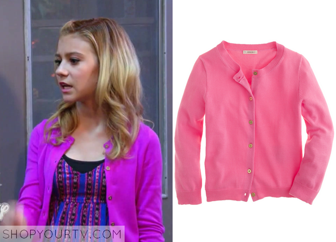 avery pink cardigan