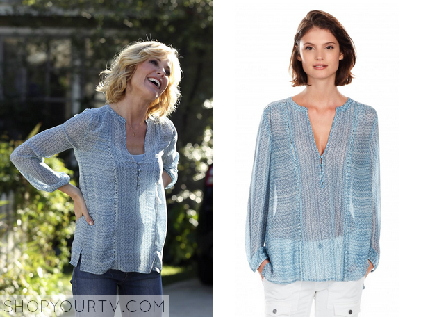 claire blue blouse