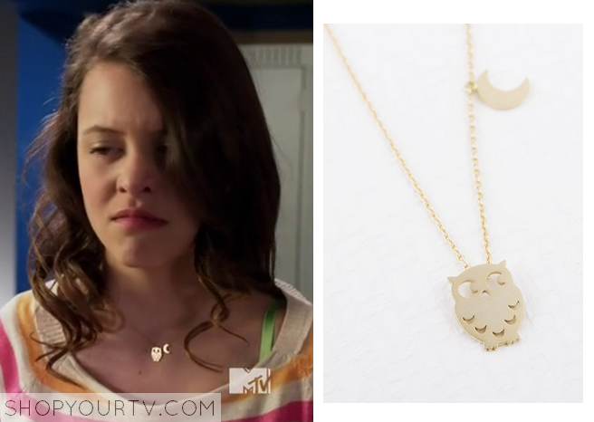 001c935ebe Degrassi  Season 14 Episode 10 Frankie s Owl Moon Necklace