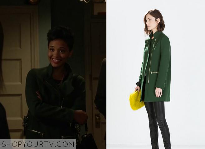 green zip coat