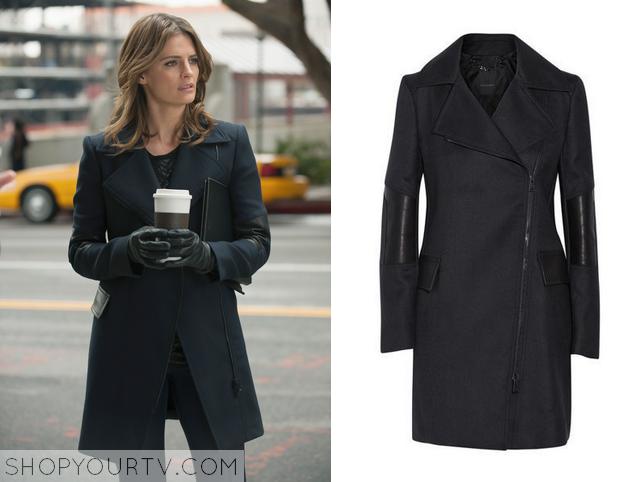 leather shoulder coat