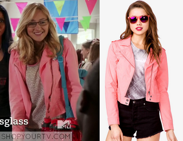 maia pink denim jacket