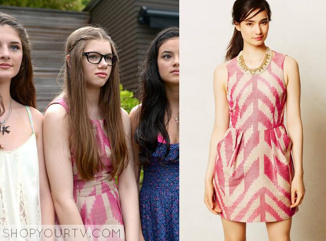 pink aztec dress