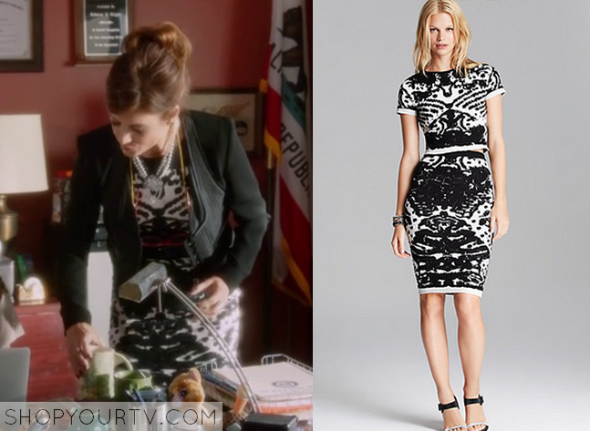 rebecca printed dress