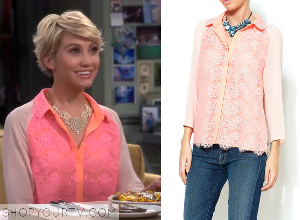 Baby daddy season 4 episode 5 riley s pink lace front blouse