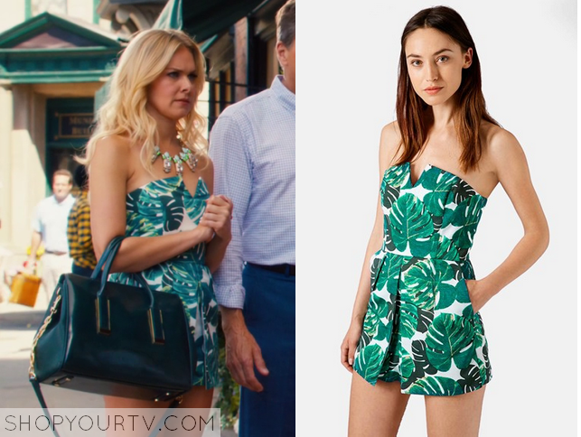 d0659324d2 Hart of Dixie  Season 4 Episode 4 Shelby s Palm Tree Print Playsuit ...