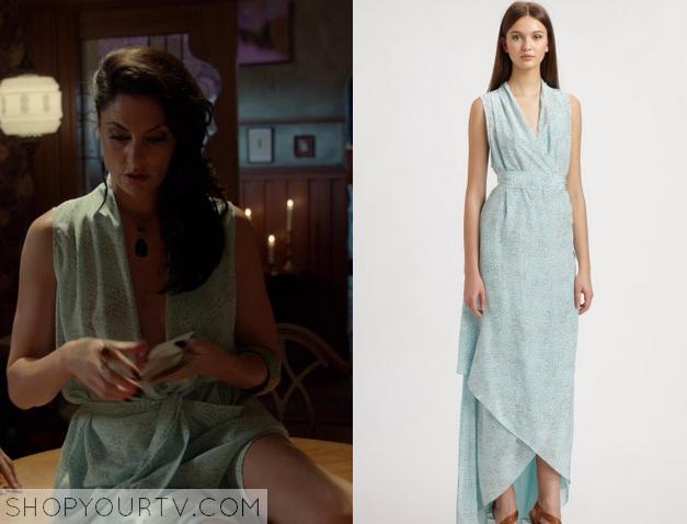 wendy blue wrap dress
