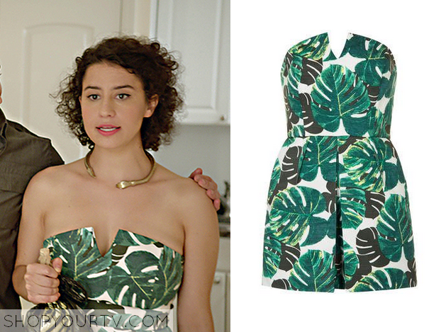 e60c44facb Broad City  Season 2 Episode 5 Ilana s Leaf Print Playsuit