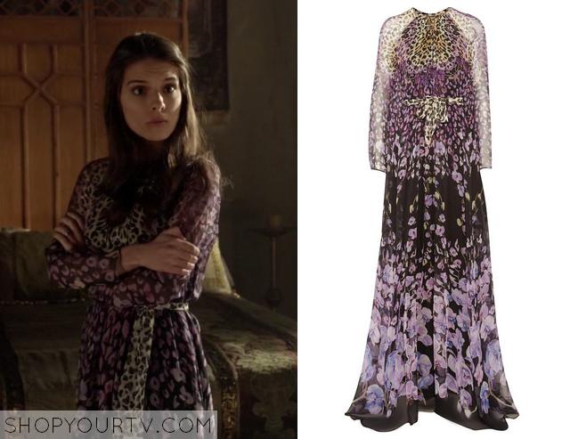 kenna purple print dress
