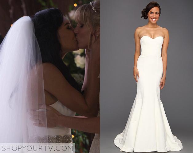 Glee: Season 6 Episode 8 Santana\'s Strapless Wedding Dress – Shop ...