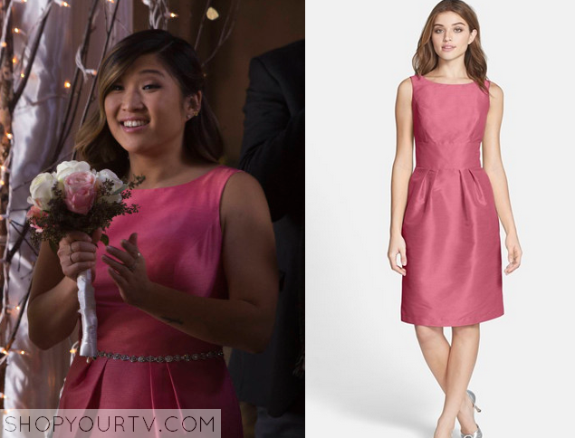 tina pink bridesmaid dress