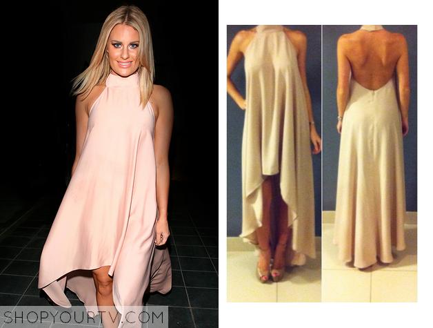 danielle pink high neck dress