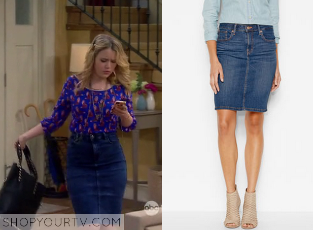 Melissa and Joey: Season 4 Epsiode 12 Lennox's Denim Highwaisted ...