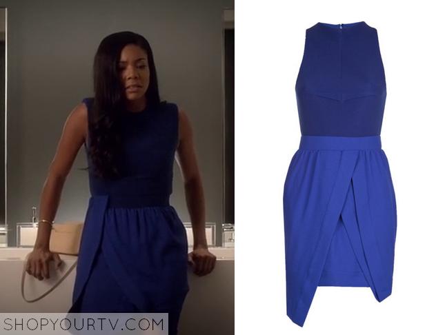 mary jane blue draped dress