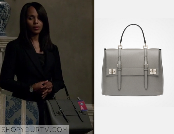 cccab11b14d0fe Scandal: Season 4 Episode 15 Olivia's Grey Bag | Shop Your TV