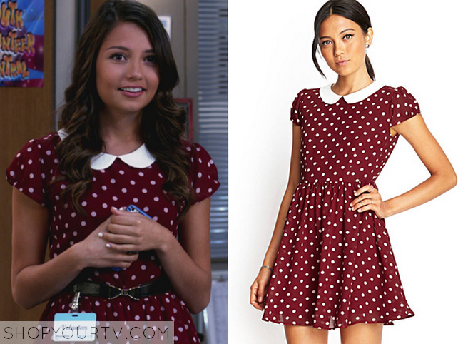 open heart polka dot dress