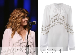 Nashville: Season 3 Episode 18 Rayna's Sequin Chevron Blouse