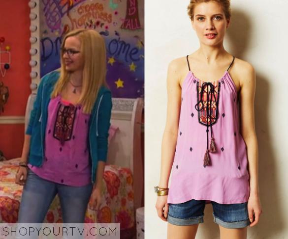 a12cc3eff0 Liv   Maddie  Season 2 Episode 15 Maddie s Pink Embroidered Top