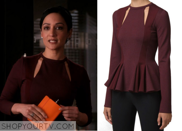 burgundy cut out top