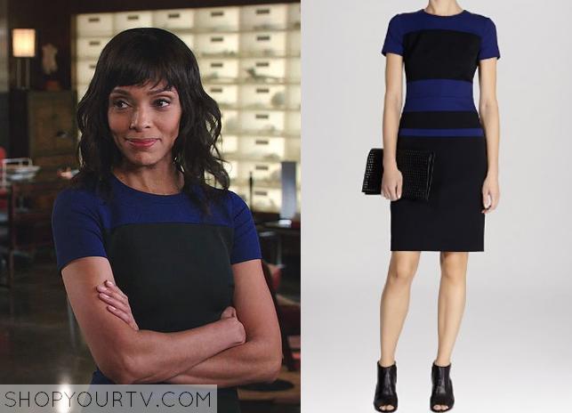camille blue black dress