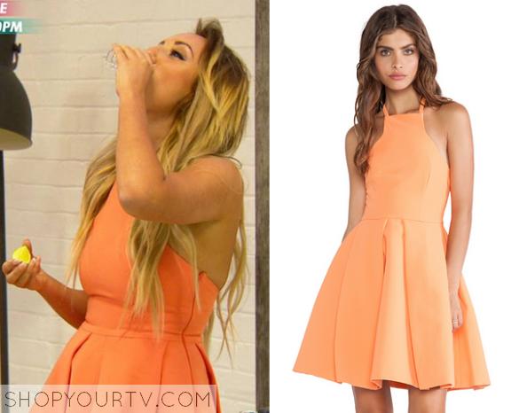 charlotte crosby orange dress