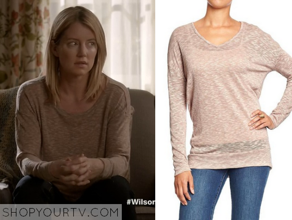 elizabeth pink slub sweater