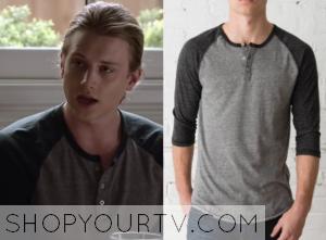Finding Carter: Season 2 Episode 3 Max's Grey/Black Henley Top