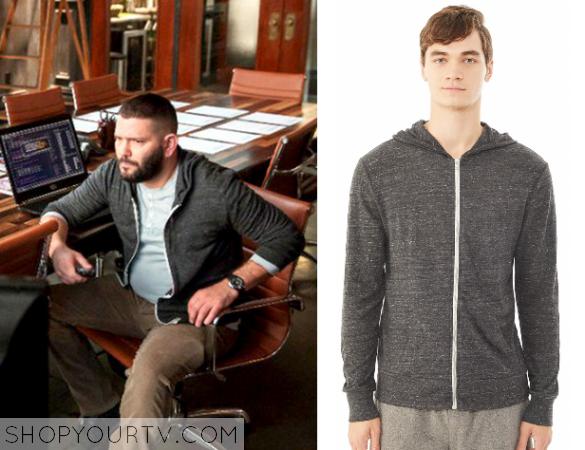 huck grey hoodie