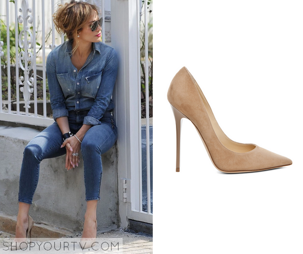 j lo suede pumps