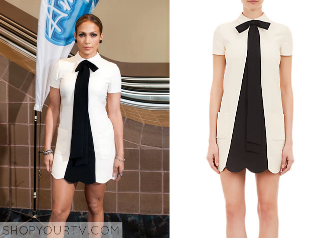 Jennifer lopez white lace dress on american idol