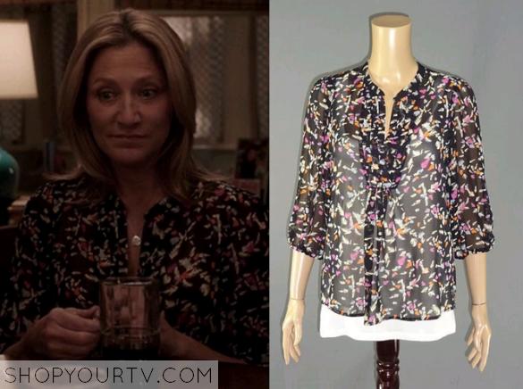 nurse jackie floral blouse