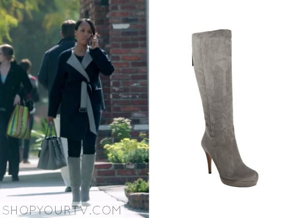 Scandal: Season 4 Episode 20 Olivia\'s Suede Knee HIgh Boots | Shop ...