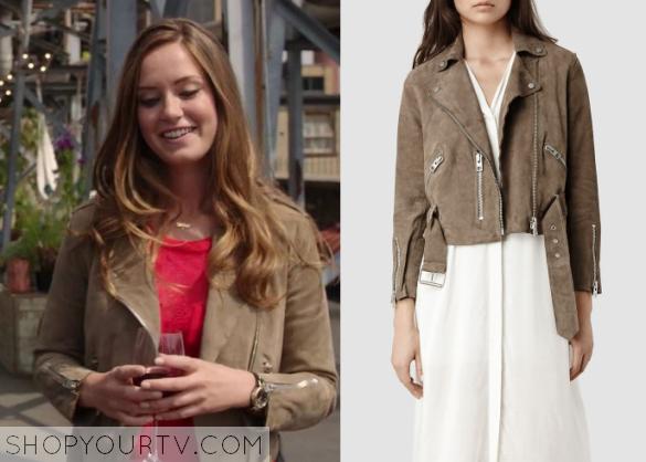 ophelia brown suede jacket