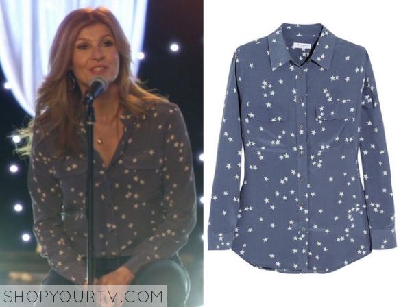 rayna star print blouse