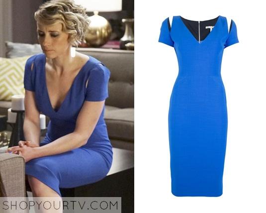 revenge 3x19 blue dress