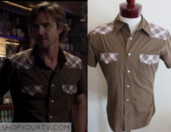 sam plaid brown shirt