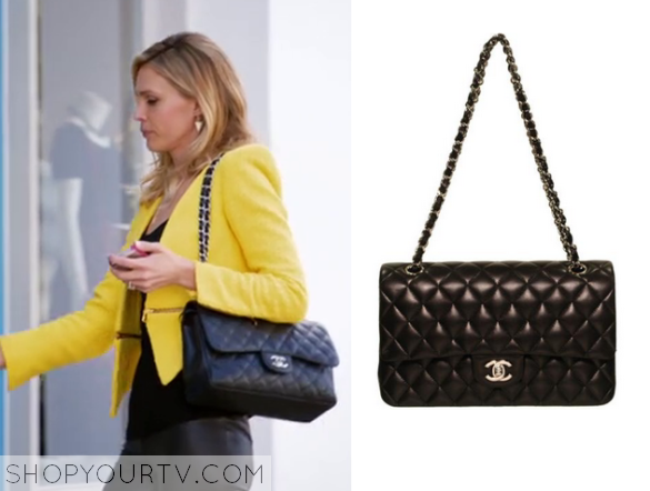sara black quilted bag