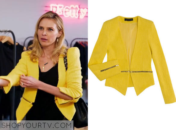 1 Barely Waist Yellow Season Episode Zip Sara's Blazer Famous rqfEq0wB