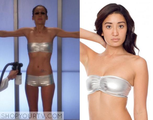 silver metallic underwear