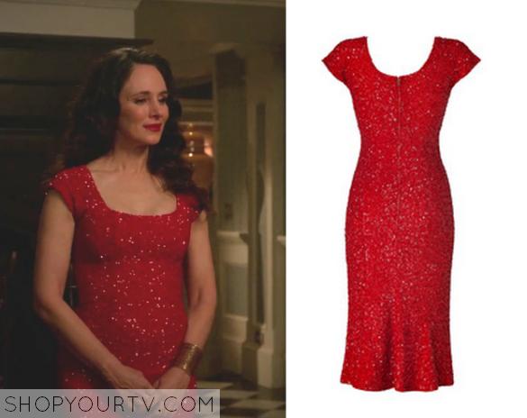 victoria red sequin dress