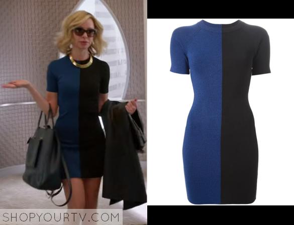 Google blue black dress