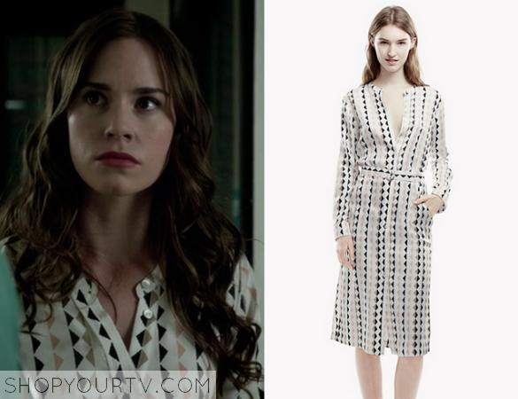 charlotte geo print shirt dress