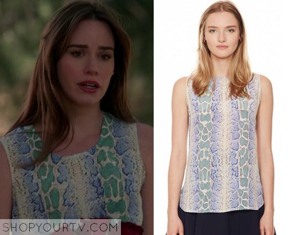 charlotte snake print blouse