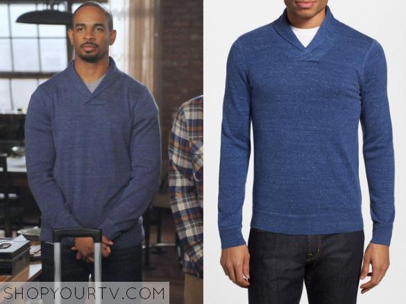 coach blue sweater