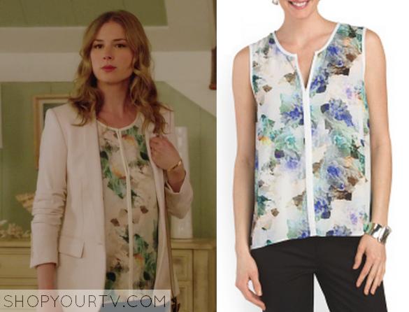 emily floral print blouse