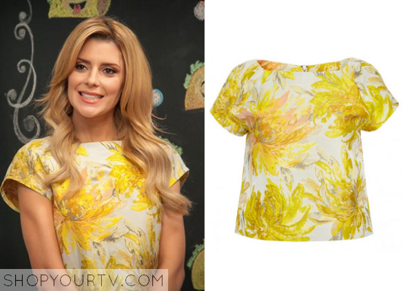 grace yellow floral top