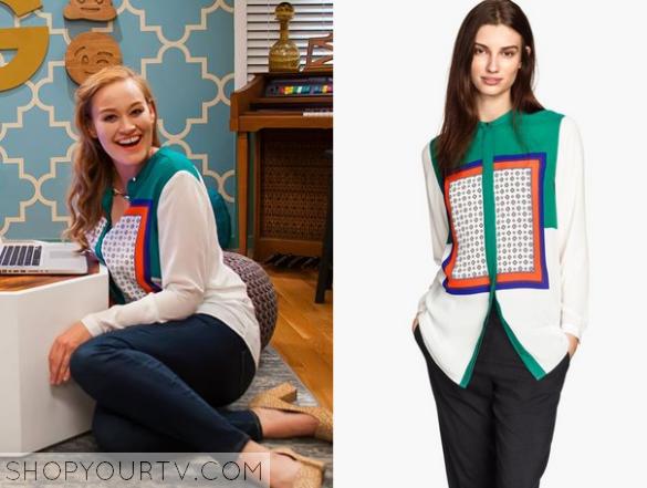 mamrie print blouse